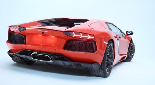 Lamborghini Aventador exhaust view
