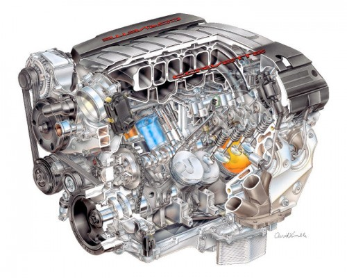 2014 Corvette engine illustration